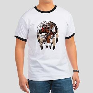 Paint Horse Dreamcatcher Ringer T