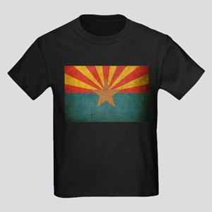 Vintage Arizona Flag Kids Dark T-Shirt