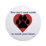Touch Your Heart Ornament (Round)