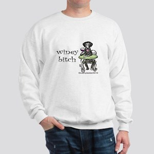 Winey Bitch Curly Sweatshirt