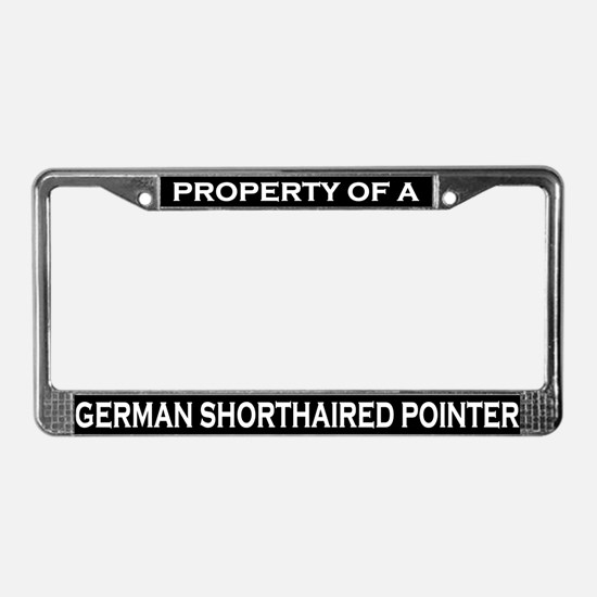 Property of German Shorthair License Plate Frame