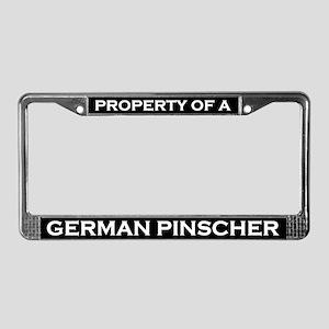 Property of German Pinscher License Plate Frame
