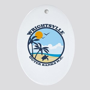 Wrightsville Beach NC - Beach Design Ornament (Ova