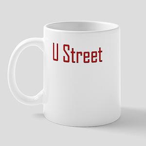 U Street Red/Black Mug
