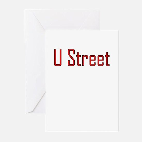 U Street Red/Black Greeting Cards (Pk of 10)