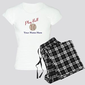 Personalize it! Play Ball B Women's Light Pajamas