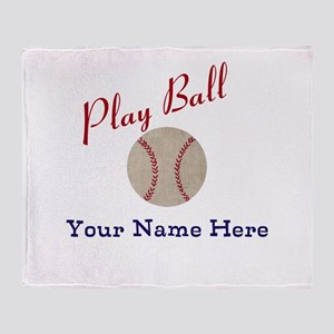 Personalize It! Play Ball Baseball Throw Blanket