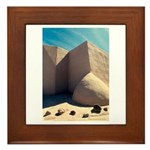 Rancho Taos Church Framed Tile