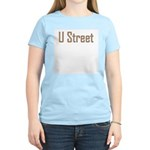 U Street Orange/Blue Women's Pink T-Shirt