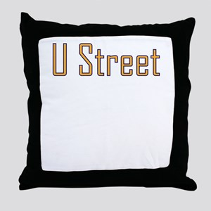 U Street Orange/Blue Throw Pillow