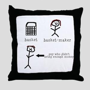 A Tisket A Tasket Throw Pillow