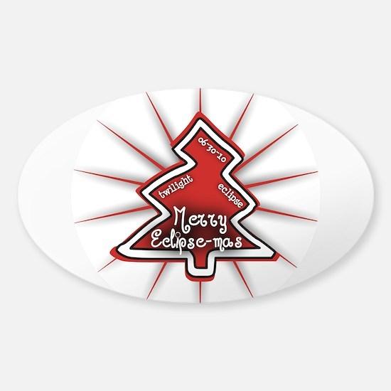 Merry Eclipse-mas Sticker (Oval)