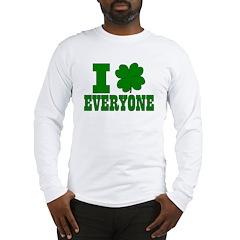 I Shamrock EVERYONE Long Sleeve T-Shirt