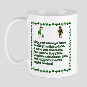 Irish Blessings, Saying, Toasts and Prayer Mug