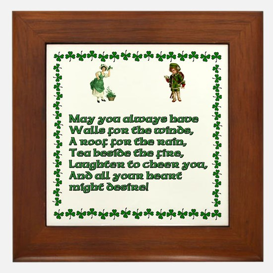 Irish Blessings, Saying, Toasts and Prayer Framed