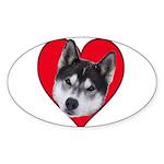 Valentine Oval Sticker