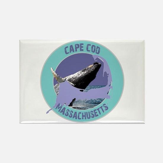 Cape Cod Whale Rectangle Magnet