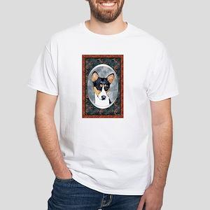 Basenji Designer White T-Shirt