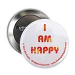 I AM HAPPY Button