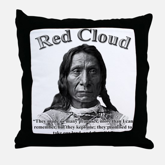 Red Cloud 01 Throw Pillow