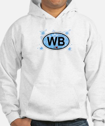 Wrightsville Beach NC - Oval Design Hoodie