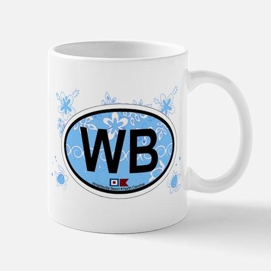 Wrightsville Beach NC - Oval Design Mug