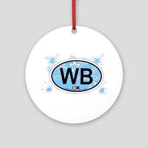 Wrightsville Beach NC - Oval Design Ornament (Roun