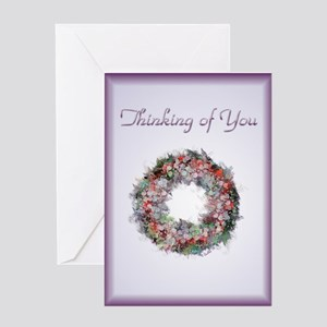 Thinking of you greeting cards cafepress thinking of you greeting card m4hsunfo