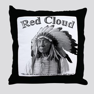 Red Cloud 02 Throw Pillow