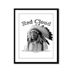 Red Cloud 02 Framed Panel Print