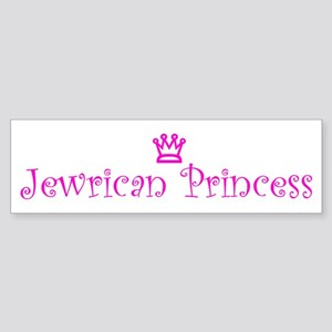 Jewrican Princess Bumper Sticker