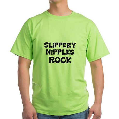 Slippery Nipples Rock Green T-Shirt