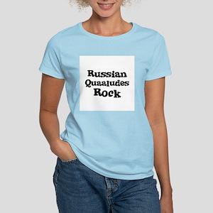 Russian Quaaludes Rock Women's Pink T-Shirt