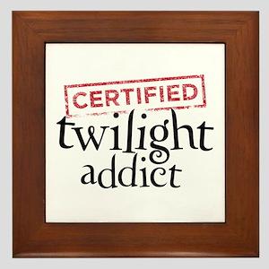 Certified Twilight Addict Framed Tile