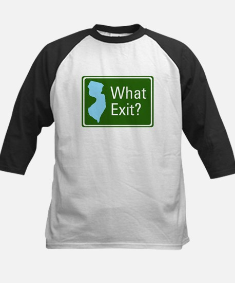 What Exit? Kids Baseball Jersey