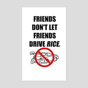 Friends Dont Let Friends Driv Sticker (Rectangular