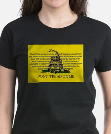 DONT TREAD ON ME for Independ Women's Dark T-Shirt