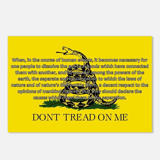 DONT TREAD ON ME for Independ Postcards (Package o