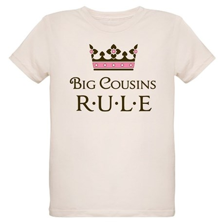 Big Cousins Rule Organic Kids T-Shirt