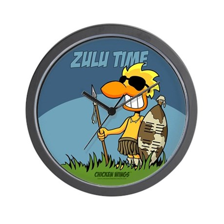 Quot Zulu Time Quot Wall Clock By Chickenwings