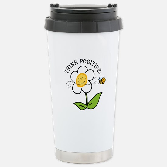 Think Positive Bee Stainless Steel Travel Mug