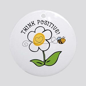 Think Positive Bee Ornament (Round)