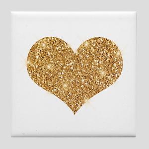 glitter-heart_0006_gold Tile Coaster
