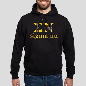 Sigma Nu Letters Plaid Hoodie (dark)