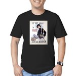 If You Want to Fight Men's Fitted T-Shirt (dark)