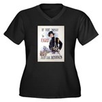If You Want to Fight Women's Plus Size V-Neck Dark