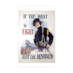 If You Want to Fight Sticker (Rectangle 10 pk)