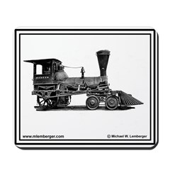 Burlington Railroad Engine # 1 -Mousepad