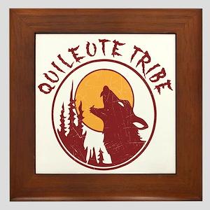 Quileute Tribe Wolves Framed Tile