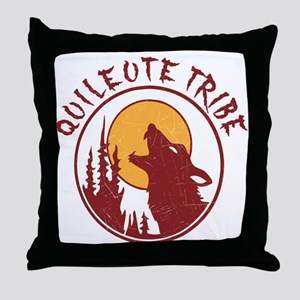 Quileute Tribe Wolves Throw Pillow